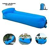 Luxloyala 00548 Aufblasbares Sofa,Luftcoach Hochwertige Wasserdichtes luftsofa, Blau