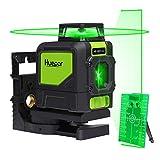 Huepar 901CG 1 x 360 Kreuzlinienlaser Grün, 360 Grad Linienlaser Selbstnivellierenden Laser Level mit Pulsfunktion, Umschaltbar 360° Horizontaler...