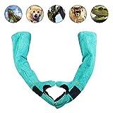 Jinclonder Handschuhe für den Umgang mit Haustieren, Bissschutz, Rindsleder, Zwei Farben, Arbeitshandschuhe für Hund und Gartenarbeit