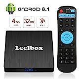 Android 8.1 TV Box - Leelbox Smart TV Box Q4 S 4 GB RAM & 32 GB ROM, Quad Core 64 bit Android Box Wi-Fi integrato/BT 4.1/ Box TV UHD 4K TV/USB 3.0...