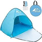 Bfull Strandmuschel, Extra Light Automatisches Strandzelt mit Reißverschlusstür und UV-Schutz, Familien Portable Beach Zelt in Blau, Outdoor Tragbar...