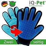 iQ-Pet Fellpflege-Handschuh   2 Seiten: Gummi + Mikrofaser