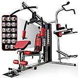 Sportstech Einzigartige 45in1 Premium Kraftstation HGX100/HGX200 für unzählige Trainingsvarianten Multifunktions-Homegym mit Stepper & LAT-Zugturm,...