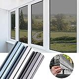 Folie Sichtschutz Schwarz-Grau 75x300CM Fensterfolie selbstklebend Wärmeisolierung 99% UV-Schutz Tönungsfolie