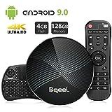 Bqeel Android TV Box U1 MAX mit Tastatur【4G+128G】 Android 9.0 TV Box mit RK3328 Quad-Core 64bit Cortex-A53 /WiFi 2.4G/5.0G /Bluetooth 4.0/ 4K HD/...