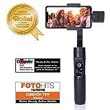 Rollei Smartphone Gimbal Steady Butler Mobile - 3 Achsen Schwebestativ (Stabilisator/Steadycam) für Smartphones mit integrierter Power Bank und. App...
