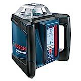 Bosch Professional 0601061A00 Professional GRL H + LR 50, 500 m (Durchmesser) Arbeitsbereich mit Empfänger, Schnelllader, Transportkoffer,...