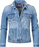 Navahoo Damen Jeansjacke Übergangsjacke Pamuyaa Hellblau Denim Gr. XS