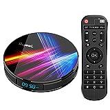 Bqeel Android TV Box R1 PRO【4G+32G】 Android 9.0 TV Box mit RK3318 Quad-Core 64bit Cortex-A53/ unterstützt WiFi 2.4G/5.0G /Bluetooth 4.0/ 4K/HD/...