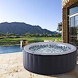 Whirlpool MSpa aufblasbar für 4 Personen SPA Ø180x70cm In-Outdoor Pool 118 Massagedüsen Timer Heizung Aufblasfunktion per Knopfdruck TÜV geprüft...