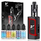 Kupbox E Zigarette Starter Set mit 5x10ml E Liquid ohne Nikotin, 80W E Shisha Dark Rider E Zigarette mit 0.5Ohm 2ml Verdampfer Tank, 2000mah Akku Kit...