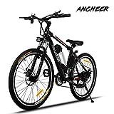 Ancheer Elektrofahrrad 26Zoll/20Zoll Zoll E- Bike Mountainbike, 25-50km/h Meilen Kilometerstand, 36V 8AH Abnehmbarer Akku and 21 Gang Getriebe (26Zoll...