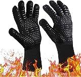 BIFY Grillhandschuhe BBQ Handschuhe 2er per Set Hitzebeständig bis 800° Ofenhandschuhe Silikon Topfhandschuhe Backhandschuhe Universalgröße...