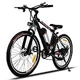Bunao E-Bike Mountainbike Elektrofahrrad mit 21-Gang Shimano Nabenschaltung, 250W, 8AH, 36V Lithium-Ionen-Akku, 26' Zoll, Pedelec Citybike Stadtrad...