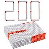 Weiß Pfeile, Mecotech 200 Stück Weiß Pfeile Glow Darts Nachfüllpackung Zubehör für Nerf Modulus