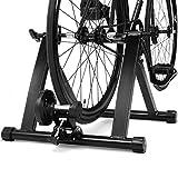 COSTWAY Rollentrainer aus Stahl, Cycletrainer klappbar, Fahrrad Heimtrainer für Indoor Fahrradtraining, Fahrradtrainer bis zu 150 KG belastbar...