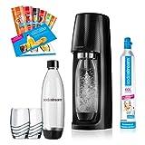 SodaStream Easy PROMOPACK Wassersprudler zum Sprudeln von Leitungswasser, ohne schleppen!  mit 1 Zylinder, 2* 1L PET Flasche (BPA FREI!), 2 Design...