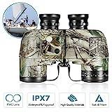 BNISE militärisches nautisches Fernglas mit Kompass, Entfernungsmessen mit dem Kompass, 10x50 großes Objektiv für weites Feld BAK4, Wasserdicht und...