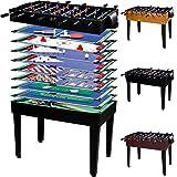 Maxstore Multigame Spieletisch Mega 15 in 1, inkl. komplettem Zubehör, Spieltisch mit Kickertisch, Billardtisch, Tischtennis, Speed Hockey UVM. in...