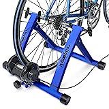 Relaxdays Fahrrad Rollentrainer inkl. Schaltung mit 6 Gänge für 26-28, bis zu 120 Kg belastbar, Heimtrainer Fahrrad für Indoor Fahrradfahren zu...
