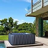 Whirlpool MSpa aufblasbar für 6 Personen SPA 185x185cm In-Outdoor Pool 132 Massagedüsen Timer Heizung Aufblasfunktion per Knopfdruck TÜV geprüft...