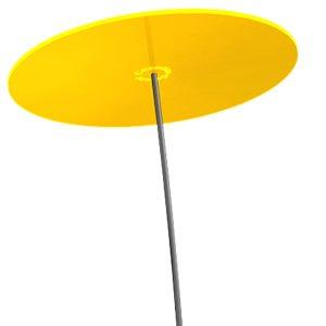 Stern Durchmesser 20 cm 1,20 Meter hoch Sonnenf/änger Stern gelb Cazador del Sol /® Das Original