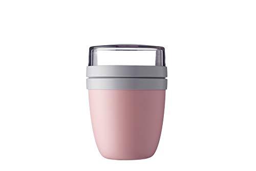 Mepal Lunchpot Ellipse Nordic pink – 500 ml praktischer Müslibecher,...