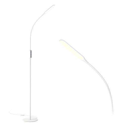 Gladle gulvlampe LED gulvlampe kan dimmes, 10W lesing ...