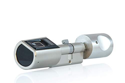 SOREX FLEX Fingerprint & RFID Türöffner mit österreich. Support! - Zylinder längenverstellbar, schnelle einfache Montage, elektron. Türschloss,...