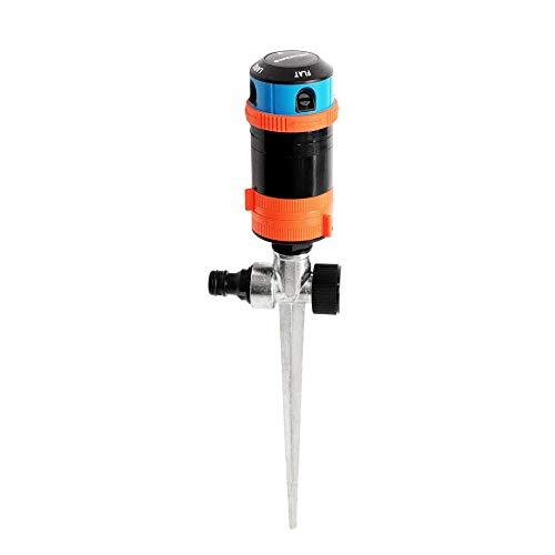 GRÜNTEK 4-facher Multifunktions-Kreisregner bis 452 qm. Großflächiger Sprinkler Rasensprenger mit Sektoreinstellung 30°- 360° optimale...