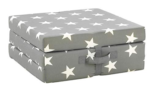 Klappmatratze Faltmatratze Reisebett | Grau | Sterne | Polyester | Baumwolle | 70x190 cm