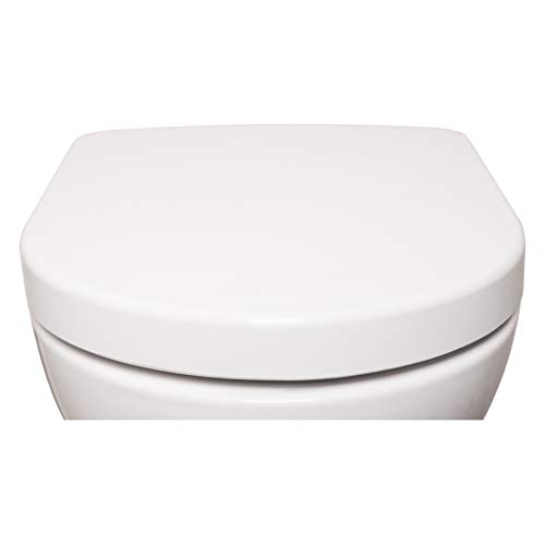 Bullseat 4.1 WC Sitz weiß D-Form • Absenkautomatik/Softclose • abnehmbar • easyclean • Toilettendeckel überlappend • Klobrille •...