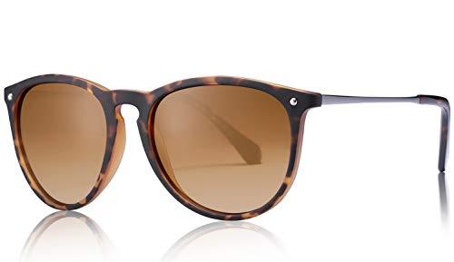 Carfia Vintage Поляризованные солнцезащитные очки для женщин Мужчины UV400 Защита Сверхлегкая оправа