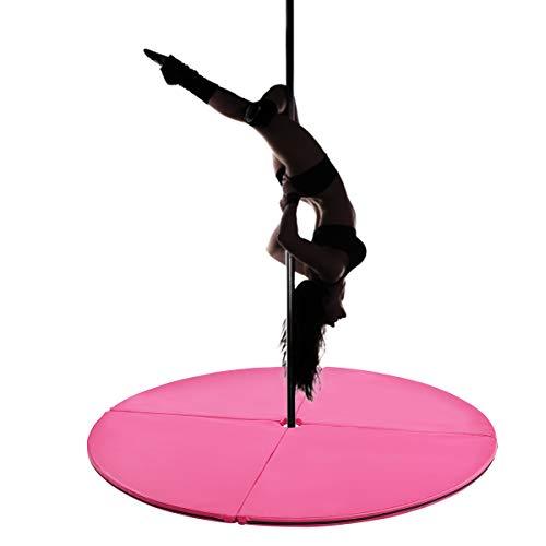 COSTWAY Stangentanz Schutzmatte Pole Dance Matte Fall-Matte Crashmatte (Rosa)