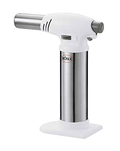 Rösle Flambierbrenner - Gasbrenner zum Flambieren von Speisen - bis zu 1300°C - ABS, Edelstahl 18/10