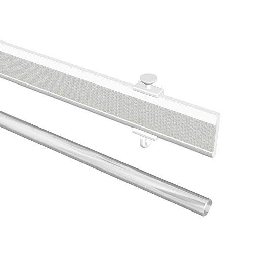 60 cm silber mit patentierter Klemmtechnik Tilldekor Paneelwagen aus Aluminium f/ür Fl/ächenvorh/änge