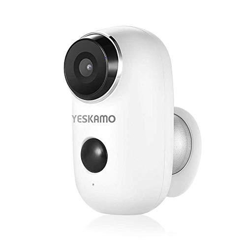 YESKAMO Überwachungskamera mit AKKU,1080P Kabellos WiFi Kamera wasserdicht...