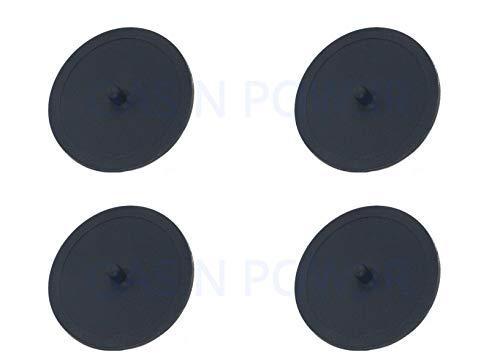 Gummi-Blindscheibe für Kaffeevollautomaten, 49 mm Schwarz