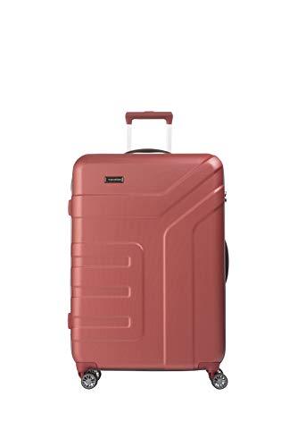 travelite 4-Rad Koffer Größe L mit TSA Schloss, Gepäck Serie VECTOR: Robuster...
