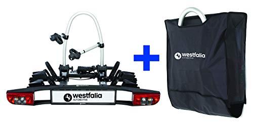 Westfalia BC 60 (Modell 2018) Fahrradträger für die Anhängerkupplung inkl. Tasche – Klappbarer Kupplungsträger für 2 Fahrräder – E-Bike...