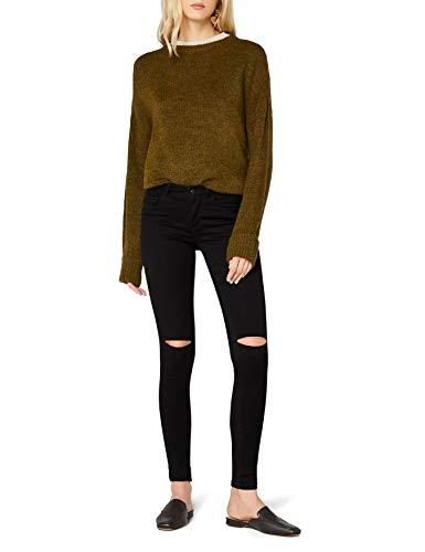 ONLY Damen Onlroyal Reg Sk Kneecut Jeans Pim600noos Jeanshose, Schwarz (Black), 34/L34 (Herstellergröße: XS)