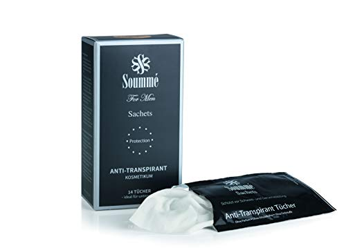 Soummé Antitranspirant Protection Tücher Box for Men Kosmetikum [14 Stk 119ml]...