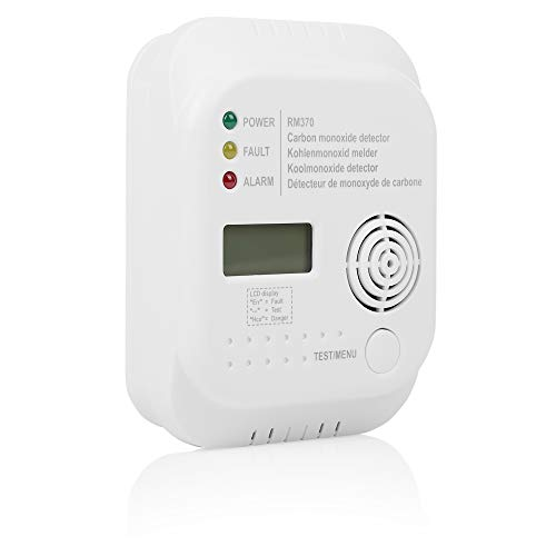 EI208D White Camping boat Ei Electronics Carbon Monoxide Alarm 10 year with LCD Display and lithium battery for the home