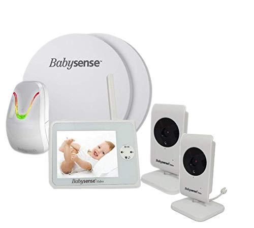 Babysense V35 Babyphone mit Sensormatten und 2 Kameras: Babysense Video...
