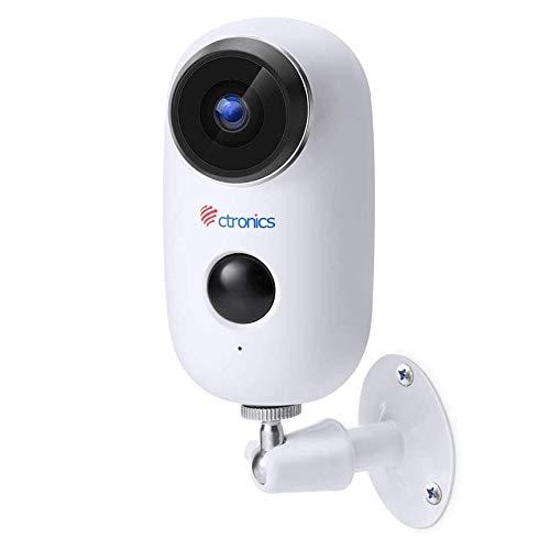 Ctronics WLAN Akku Überwachungskamera Outdoor, Kabellose 1080P Batterie IP...