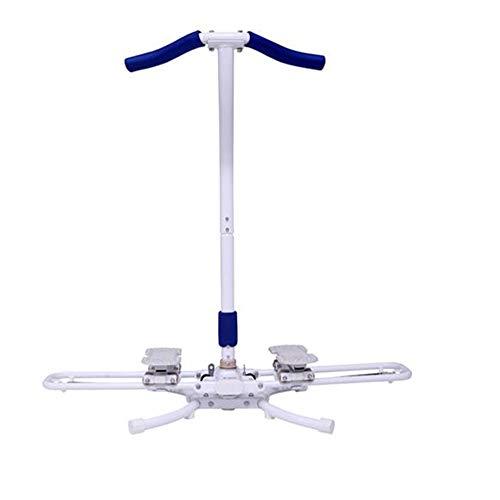 JIAYUAN Übungsgeräte Leg Magic Trainingsgerät, Oberschenkelgleiter Kniebeugenmaschine Leg Master 360-Grad-Kreisgleiten Power Press Push-up-Maschine...