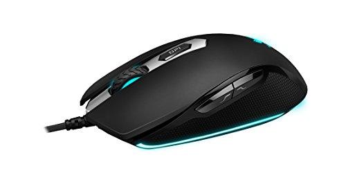 Rapoo VPRO V210 beleuchtete Gaming Maus (Bewegungsannäherungssensor, 3000 DPI, 5 programmierbare Tasten, Beleuchtungssystem 16 Mio Farben) schwarz
