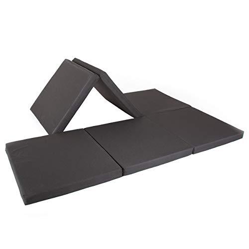 maxVitalis Doppel-Klappmatratze, Einzel- u. Doppelgästematratze, Schaumstoff extra breit (140 cm), doppelte Faltmatratze für 2 Personen,...