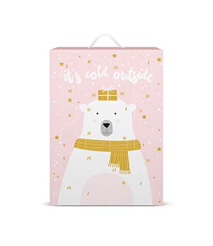 SIX Schmuck-Adventskalender mit Eisbär-Design: 24...