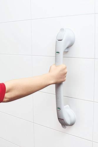 TronicXL XXL Premium Vakuum Griff für Badewannen Dusche WC 50cm Aufstehhilfe Badewannengriff Haltestange Montage OHNE BOHREN Schrauben Duschgriff...